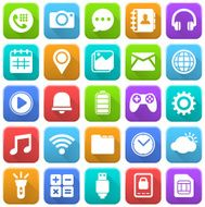Mobile Icons Social Media Application Internet
