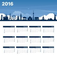 Year Calendar Travel