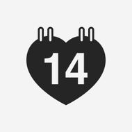 valentine's day calendar icon N16