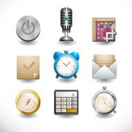 Set of realistic camera icons Vector digital Illustration N3