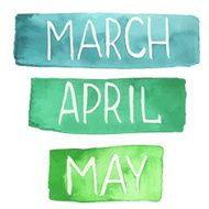 Watercolor months March April May
