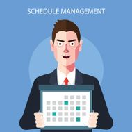 Flat character of schedule manager concept illustrations
