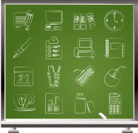 Business and office equipment icons N2