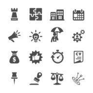business concept icon set vector eps10