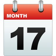 Calendar Icon with month and number 17 N2