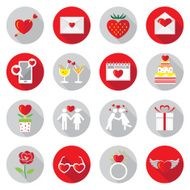 Flat Icons Set Love