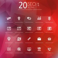 Thin simple SEO 1 icons