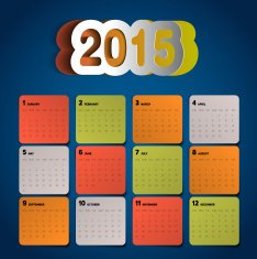 Simple 2015 Calendar Background card design N6