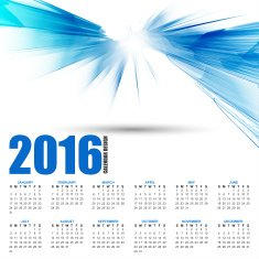 Calendar for 2016 on futuristic wavy background N2