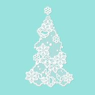 Lacy Christmas tree