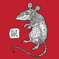 Rat Chinese Zodiac Animal astrological sign N2