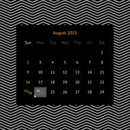 Calendar page for August 2015 N9