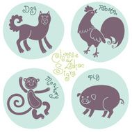 Set signs of the Chinese zodiac N4