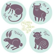 Set signs of the Chinese zodiac N5