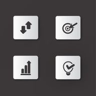 Business management sign icons vector