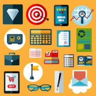 Financial and commerce flat icons