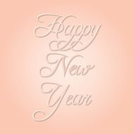 Happy new year in pastel colors vector