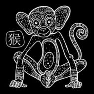Chinese Zodiac Animal astrological sign monkey