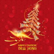 Chinese new year Oriental firecracker