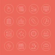 office line icon set N3