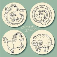 Set of the Chinese zodiac signs N2