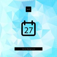 Abstract vector light blue polygonal background