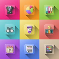 flat vector icons for web and mobile applications