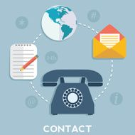 Vector contact us concept illustration N4