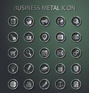 Vector metal Business Icons