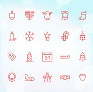 20 Trendy Thin Icons for web and mobile Christmas 1