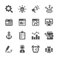 seo and internet marketing icon set 2 vector eps10