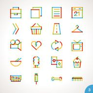 Vector Highlighter Line Icons for any purpose Set 3