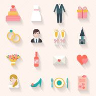 wedding icons set N2