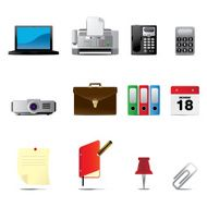 Business and Office Icons set I Series One Volume Three