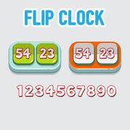 flip clock with numbers - vector illustration