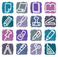 Stationery and office icons N2