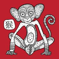 Chinese Zodiac Animal astrological sign monkey N2