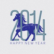 Year of the horse card N3