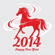 Year of the horse card N4