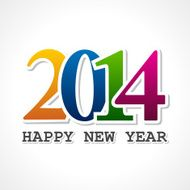 Creative new year 2014 concept