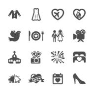 wedding icon set 3 vector eps10