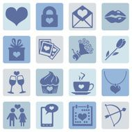 Vector Set of Icons for Valentine Day N19
