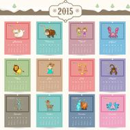 Yearly calendar for Happy New Year 2015 celebration N2