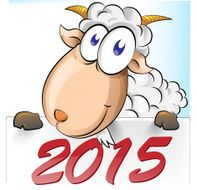 goat cartoon with 2015 background