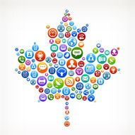 Maple Leaf royalty-free vector Social Networking and Internet Icon Set N2