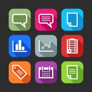 flat icons for web and mobile applications (flat design with N3