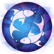 Pisces zodiac sign vector illustration