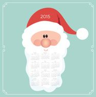 Abstract 2015 Calendar Template - Illustration N10