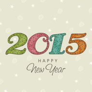 Happy New Year celebration with stylish text design N15