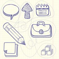 Set of doodle business management N2